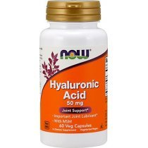 Now Hyaluronic Acid 50 ng + MSM 60 капс