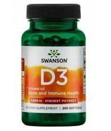 Swanson Vitamin D3 5000 250 капс