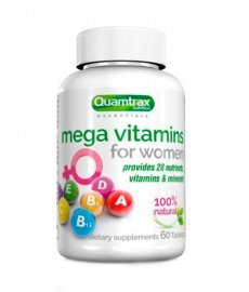 Quamtrax Mega Vitamins for women  60 таб